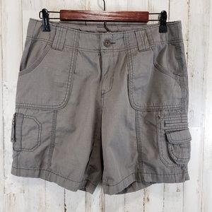 Eddie Bauer Womens Shorts 8P Gray Cargo Hiking
